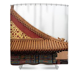 Roof Forbidden City Beijing China Shower Curtain