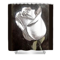 Shower Curtain featuring the painting Rose 2 by Natalia Tejera