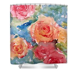 Roses Shower Curtain by Trilby Cole