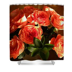 Rosie Shower Curtain by Jewels Blake Hamrick