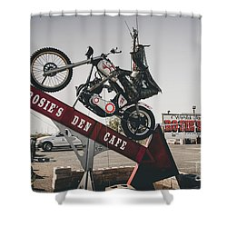 Rosies Den Cafe Shower Curtain
