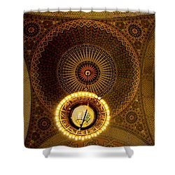 Shower Curtain featuring the photograph Rotunda Ceiling Light by Joseph Hollingsworth