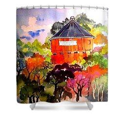 Round Barn ,santa Rosa Shower Curtain
