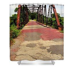 Route 66 - One Lane Bridge Shower Curtain