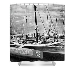 Shower Curtain featuring the photograph Route Du Rhum Ready by Elf Evans