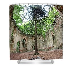 Ruins Of The Baroque Chapel Of Saint Mary Magdalene Shower Curtain by Michal Boubin