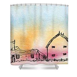 Rural Nostalgia Shower Curtain by R Kyllo