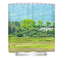 Rural Scenery In Spring Shower Curtain