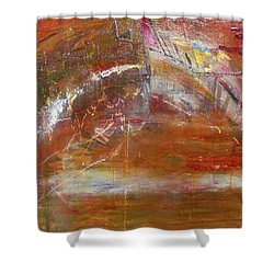 Rusty Rainbow Shower Curtain