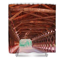 Sachs Bridge Shower Curtain by Eric  Schiabor