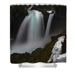 Shower Curtain featuring the photograph Sahalie Falls by Cat Connor