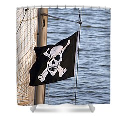 Shower Curtain featuring the photograph Sail Santa Cruz  by Holly Ethan