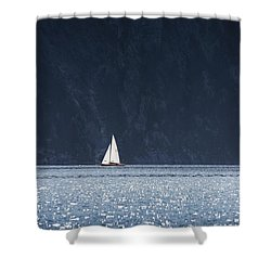 Shower Curtain featuring the photograph Sailboat by Chevy Fleet