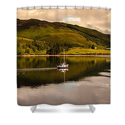Sailing In Scotland Shower Curtain