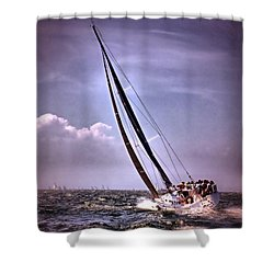 Sailing To Nantucket 003 Shower Curtain