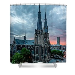 Saint Catherina Church In Eindhoven Shower Curtain