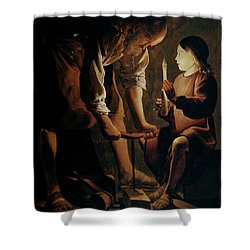 Saint Joseph The Carpenter  Shower Curtain