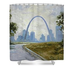 Saint Louis Panorama Shower Curtain