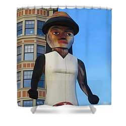 Salish Woman Shower Curtain