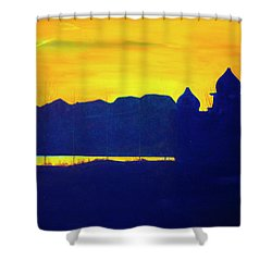 Saltair Sunset Shower Curtain