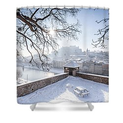 Salzburg Winter Dreams Shower Curtain by JR Photography