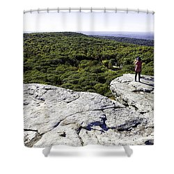 Sams Point Overlook Shower Curtain