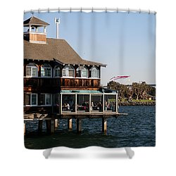 San Diego Bay Shower Curtain by Christopher Woods