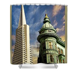 San Francisco Then And Now Shower Curtain