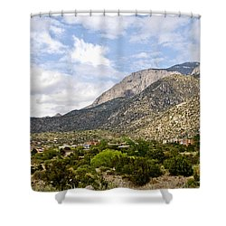 Shower Curtain featuring the photograph Sandia Mountains by Gina Savage