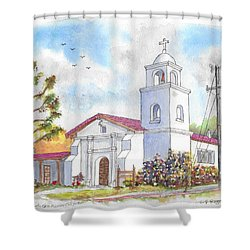 Santa Cruz Mission, Santa Cruz, California Shower Curtain