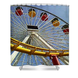 Santa Monica Pier Amusement Park Shower Curtain