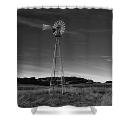 Santa Rosa Plateau Windmill Shower Curtain