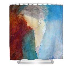 Sarah's Blue Suit Shower Curtain
