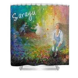 Sarayu Shower Curtain by Janet McGrath