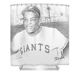 Willie Mays Shower Curtain