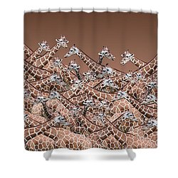 Sea Of Giraffes Shower Curtain
