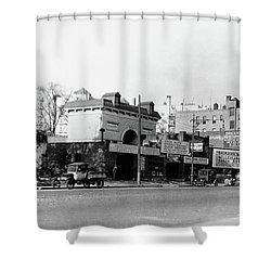 Shower Curtain featuring the photograph Seaman Drake Arch  by Cole Thompson