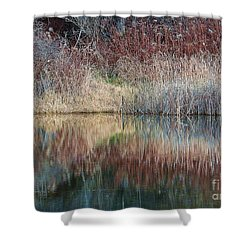 Shower Curtain featuring the photograph Seasons Edge by Christian Mattison