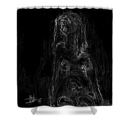 Seated Nude Shower Curtain by Jim Vance