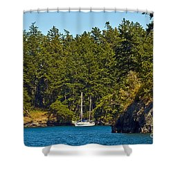 Secluded Anchorage Shower Curtain