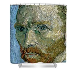 Self-portrait Shower Curtain by Vincent Van Gogh