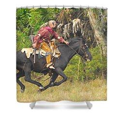 Seminole Indian Warrior Shower Curtain