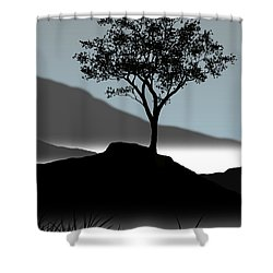 Serene Shower Curtain by Chris Brannen