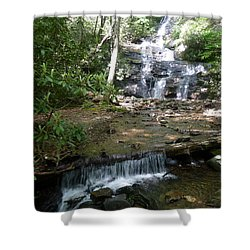 Set Rock Creek Falls Shower Curtain by Joel Deutsch