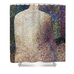 Seurat: Model, C1887 Shower Curtain by Granger