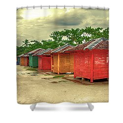 Shower Curtain featuring the photograph Shacks by Charuhas Images