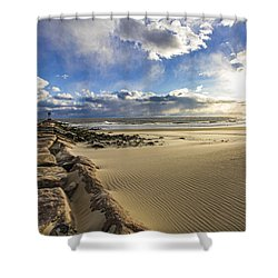 Shinnecock Sand Drift Shower Curtain