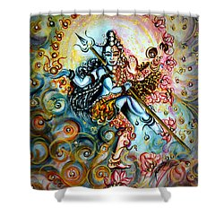 Shiva Shakti Shower Curtain by Harsh Malik