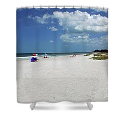 Shower Curtain featuring the photograph Siesta Key Beach by Gary Wonning