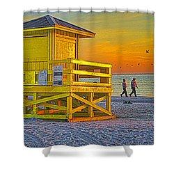 Siesta Key Sunset Shower Curtain by Dennis Cox WorldViews